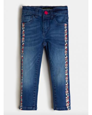 jeans da bambina con bande...