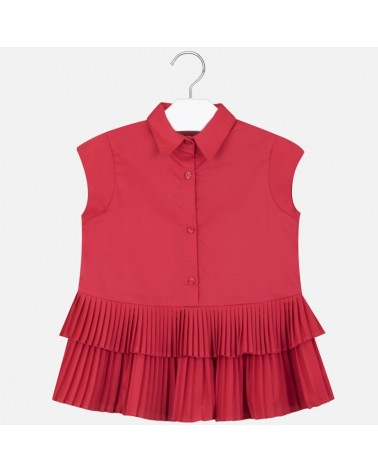 Blusa plissettata rosso...