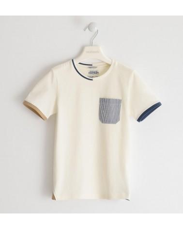 maglietta da ragazzo panna...