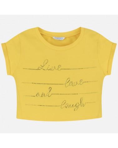 Maglietta giallo manica...