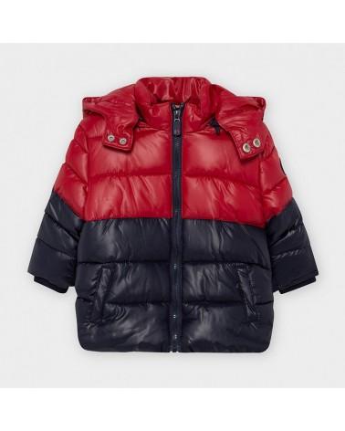 Cappotto blu e rosso da...