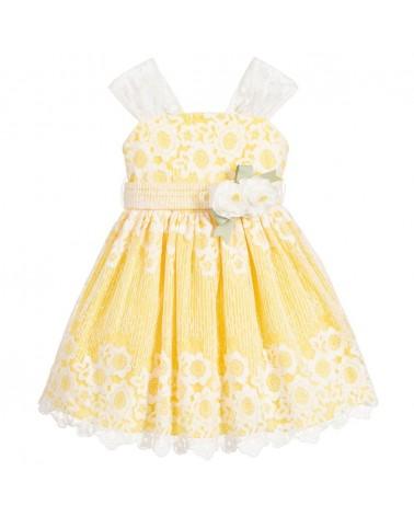 vestito da bambina giallo...
