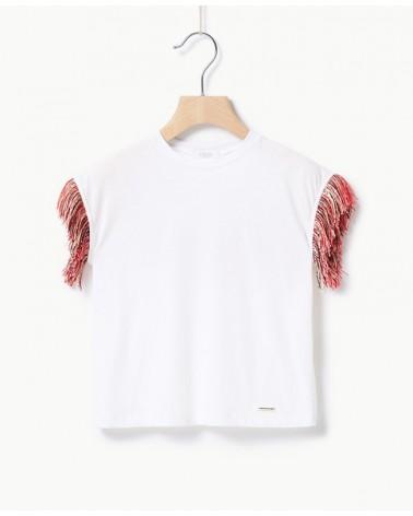 maglietta da ragazza bianca...