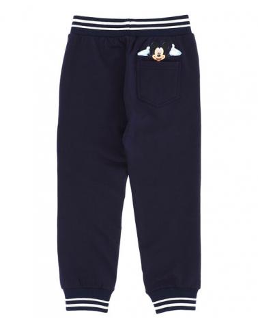 pantalone in felpa blu con...