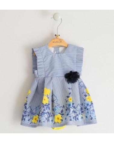 vestito da neonata a righe...
