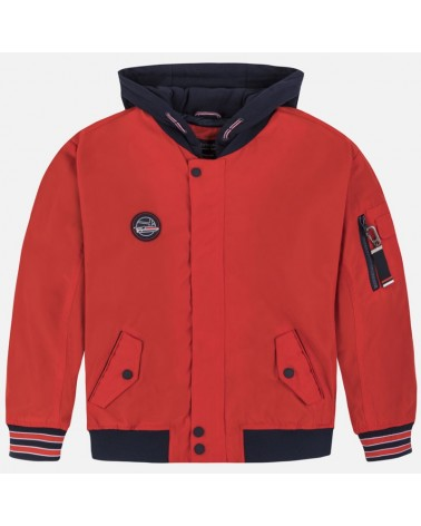Giacca bomber rosso con...