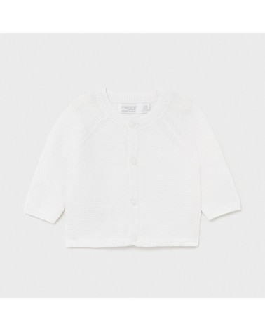 Cardigan tricot bianco da...