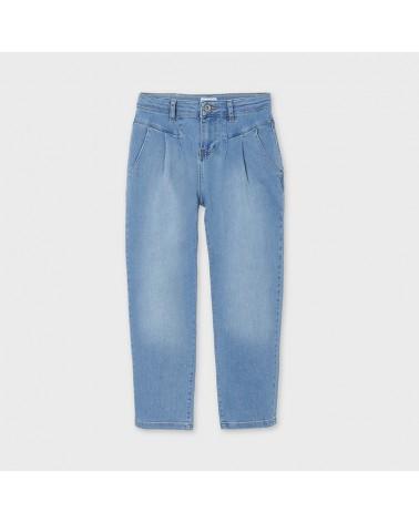 Jeans lungo slouchy chiaro...