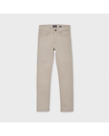 Pantalone slim fit beige da...