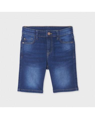 Bermuda jeans scuro da...