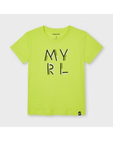 Maglietta verde lime con...