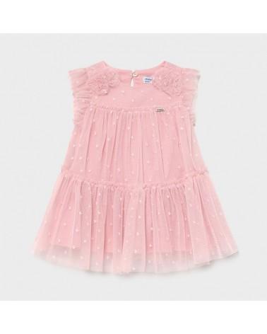Vestito rosa in tulle da...