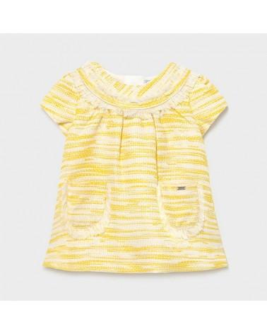 Vestito striato giallo da...