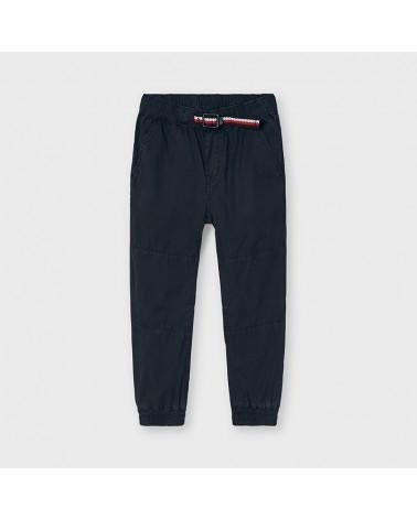 Pantalone jogger blu con...