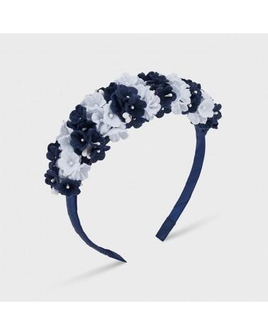 Cerchietto blu a fiori da...