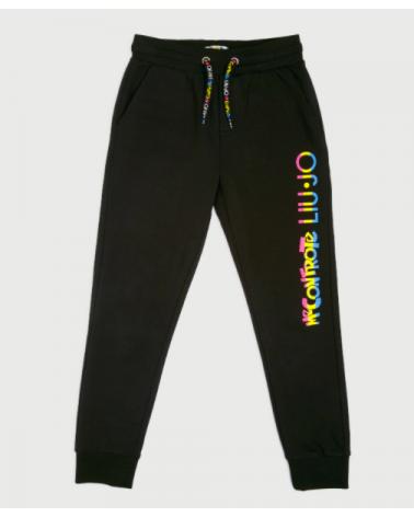 pantalone in felpa nero con...