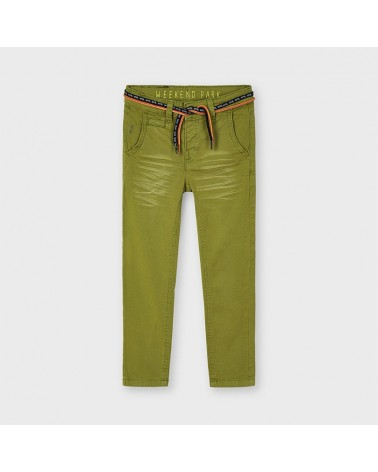 Pantalone verde muschio con...