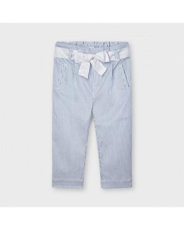Pantalone lungo bianco a...