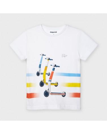 Maglietta bianco con...