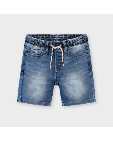 Bermuda jogger jeans chiaro...