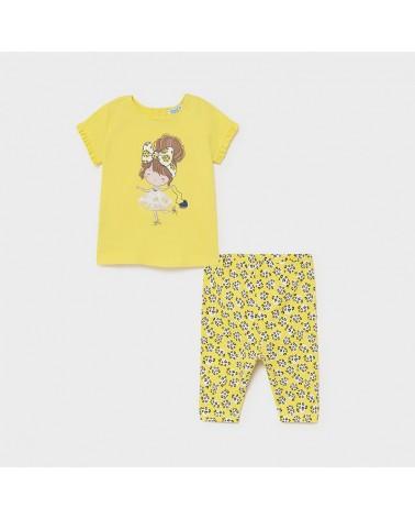 Completo leggings giallo...
