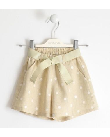 Short da bambina beige con...