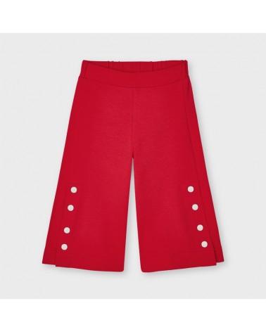 Pantalone culotte rosso con...