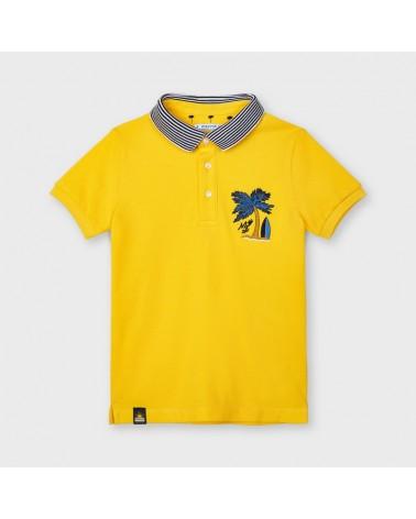 Polo manica corta giallo...