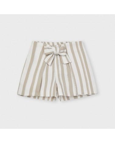 Pantaloncino lurex a righe...