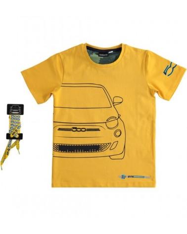 T-shirt in cotone giallo...