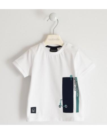 T-shirt bianco con ricamo...