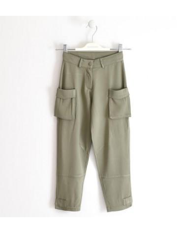 Pantalone in viscosa con...