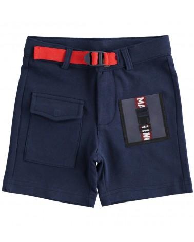Pantaloncino blu con tasca...