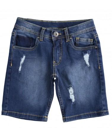 Jeans corto stretch da...