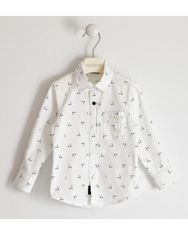 Camicia bianco con micro...