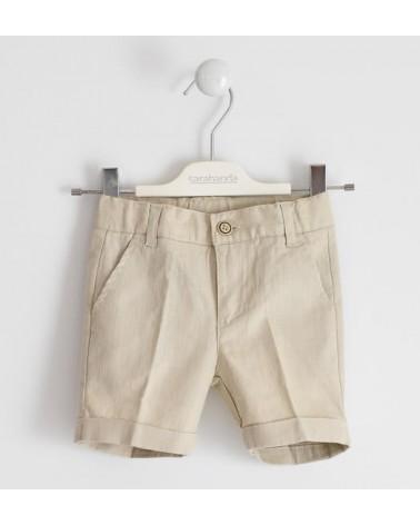 Pantaloncino beige in lino...