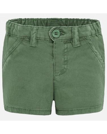 Pantaloncino in twill verde...