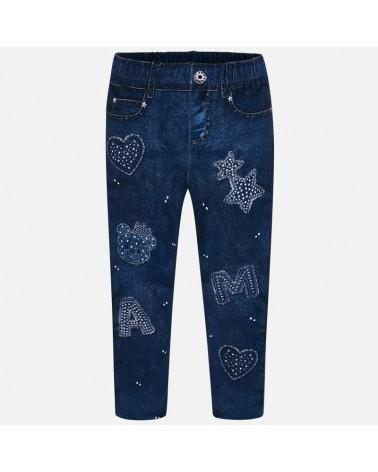 Leggings di jeans con...
