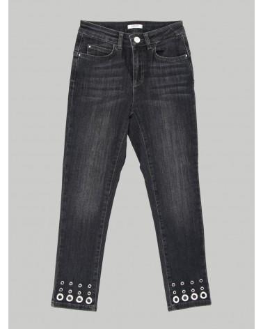 jeans nero con cerchi...