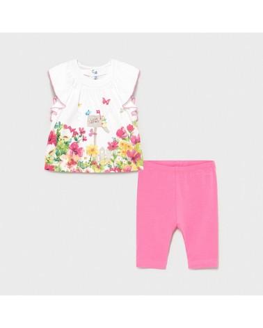Completo leggings rosa con...