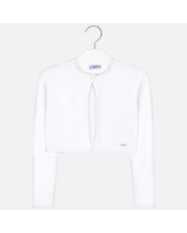Cardigan basic bianco da...