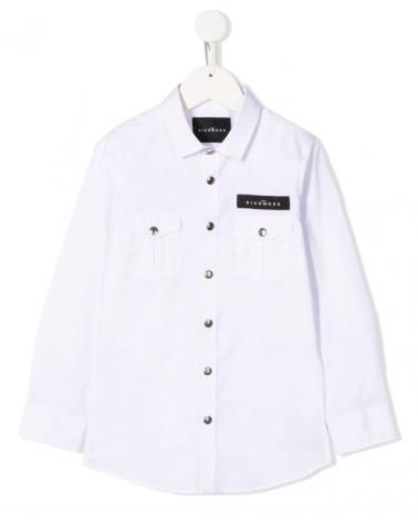 camicia da ragazzo bianca...