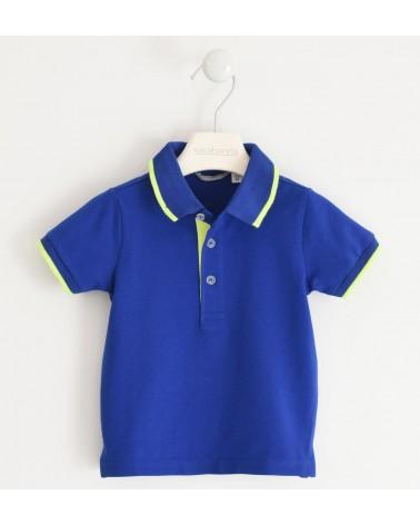 Polo in cotone azzurro...