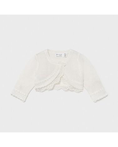 Cardigan tricot panna per...