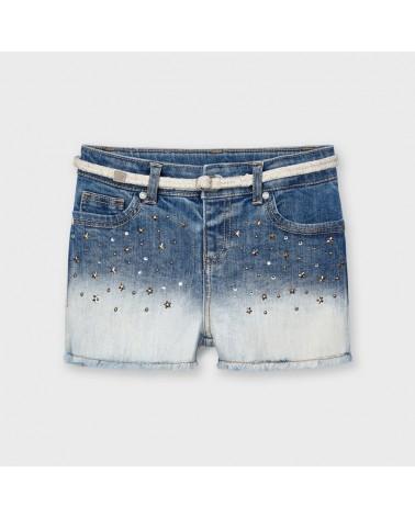 Jeans corto slavato con...