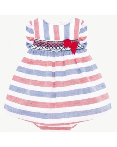 Vestito da neonata a nido d...
