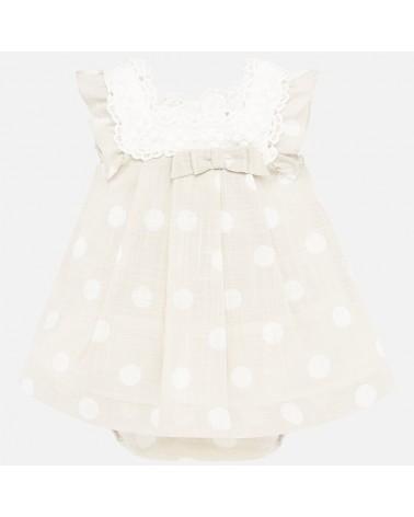Vestito da neonata beige a...