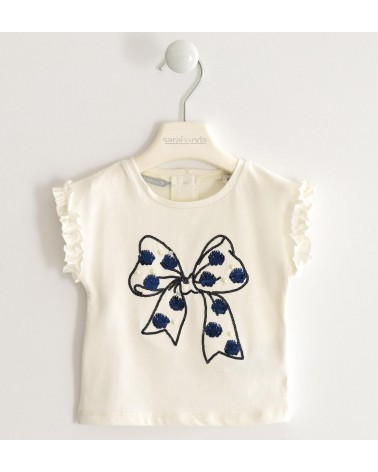 maglietta da bambina panna...