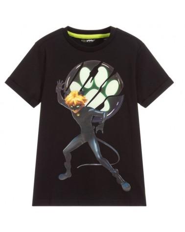 t-shirt da bambino nero con...