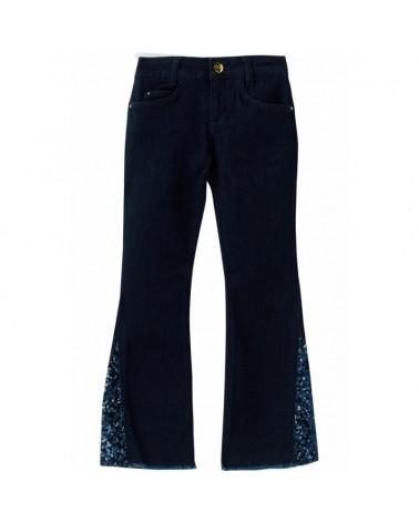 Jeans zampa da ragazza Con...
